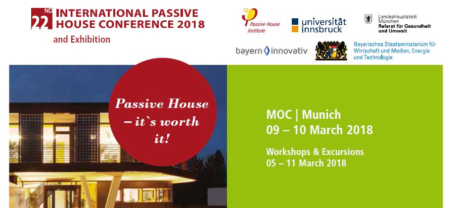 22° Conferenza Internazionale Passive House - 9/10 Marzo 2018
